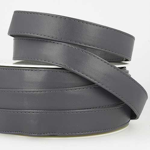 Webbing: Faux Leather: 25mm - Dark Grey