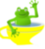Frog in cup of water