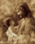 Drawing of Jesus and baby, by Jared Barnes