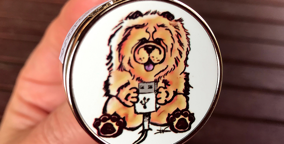 Chargeur véhicule USB double - Chow Chow