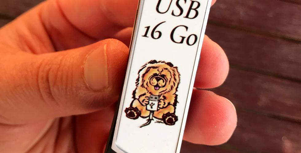 Clé USB 16Go Chow Chow