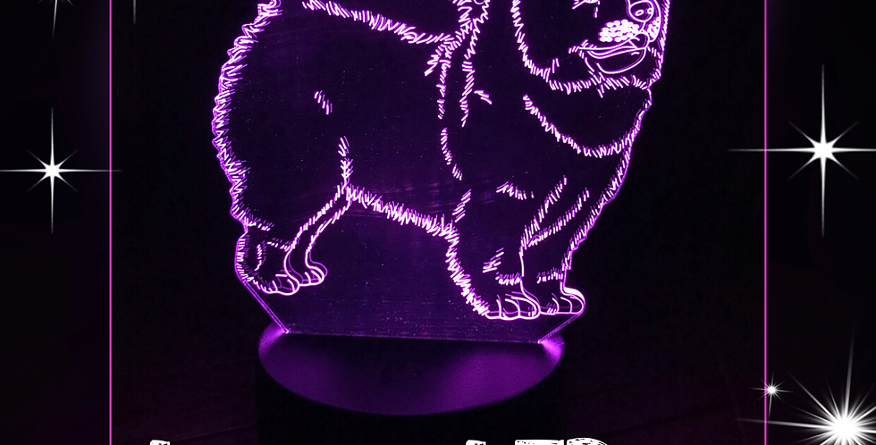 Lampe Chow Chow 3D LED