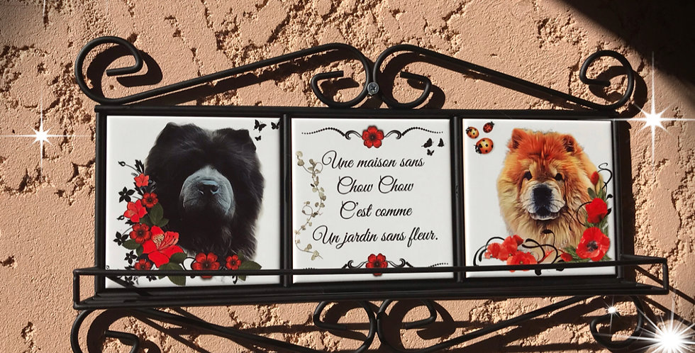 ETAGERE CHOW CHOW MURALE FER FORGE