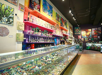 inside Gathering Glass Designs store
