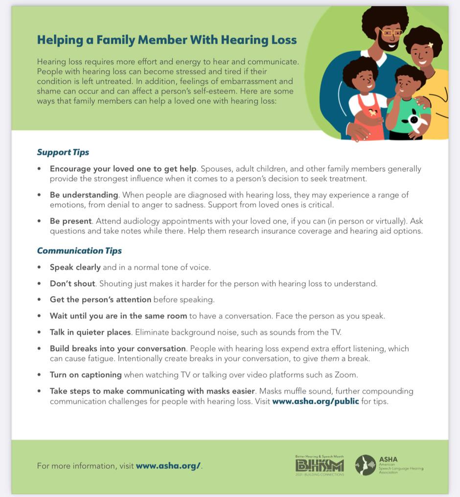 Hearing Loss Handouts BHSM