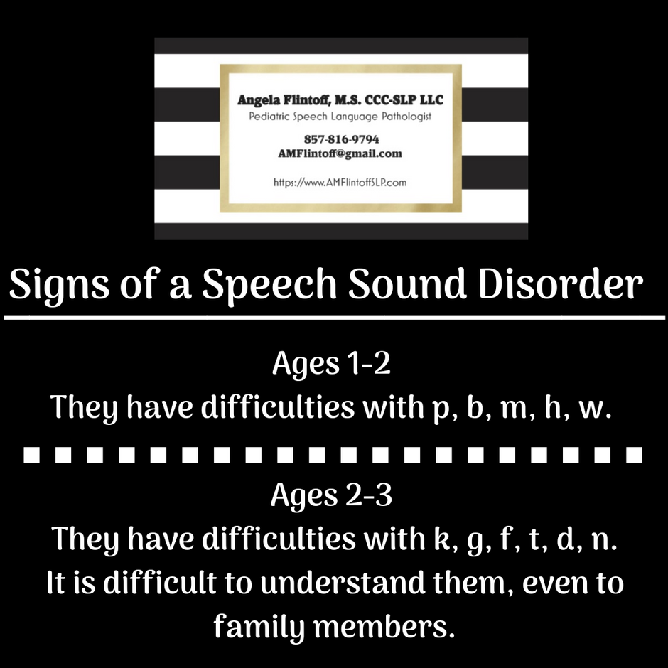 Signs of a Speech Sound Disorder