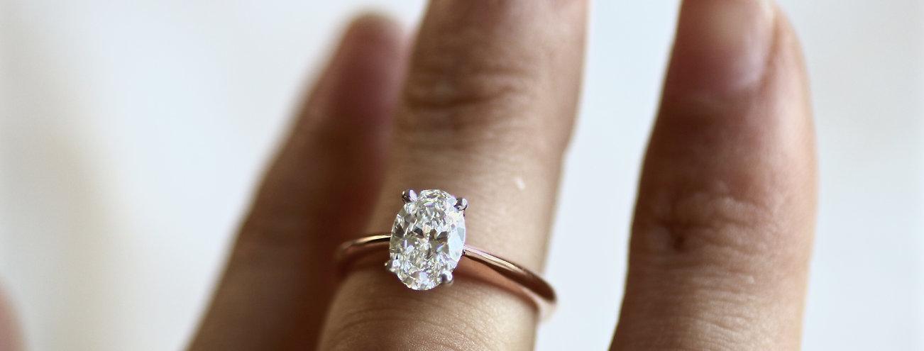 engagement ring diamond rose gold