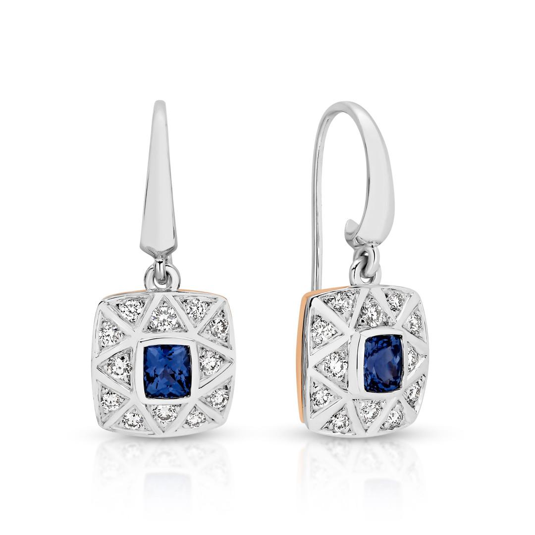 Sapphire and Diamond set earrings