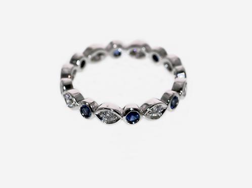 Diamond and Ceylonese Sapphire Ring