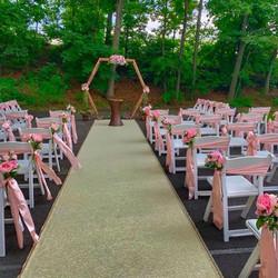 Garden Chairs ceremony