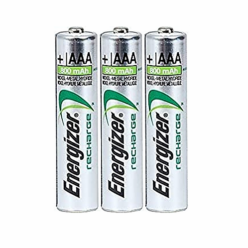 3 x AAA Rechargeable Batteries