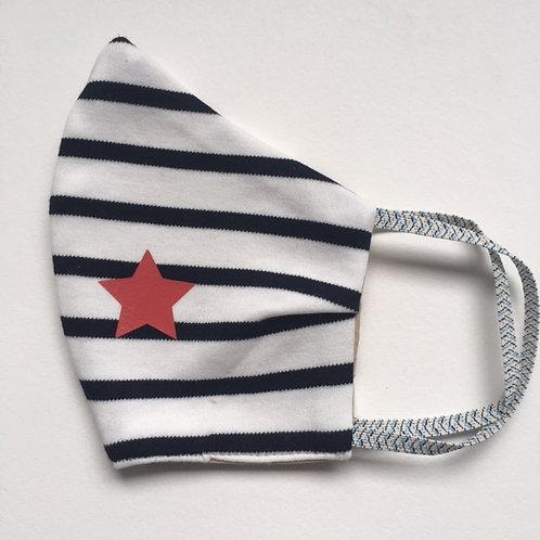 Masque Mariniere étoile rouge
