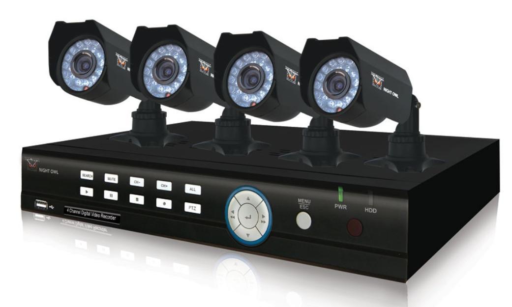 Câmeras infravermelho e DVR