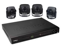 mini câmeras e sistema de gravação