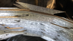 Instalação de cerca concertina dupla - clipada 45 cm - Galvalume