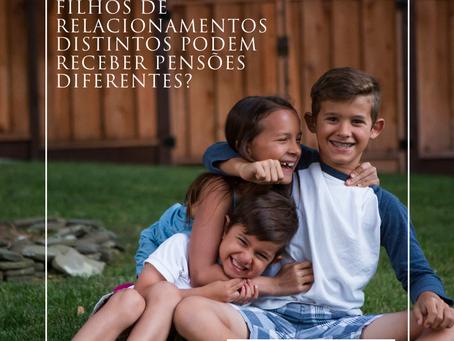 Filhos de relacionamentos diferentes podem receber pensões diferentes