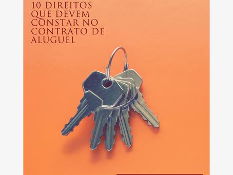 10 direitos que devem constar no contrato de aluguel