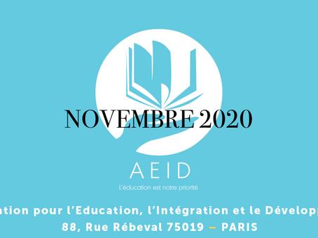 Activités Novembre 2020