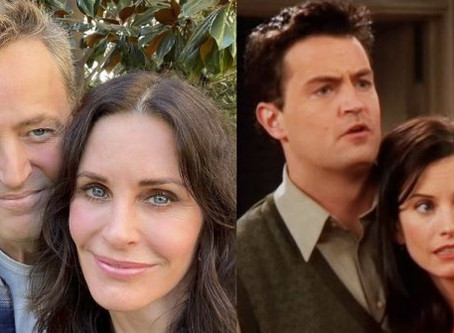 Courteney Cox causa furor con selfie al lado de Matthew Perry