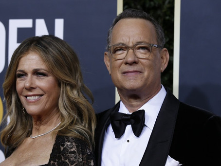 El actor Tom Hanks y su esposa Rita Wilson anuncian que ambos han contraído el coronavirus