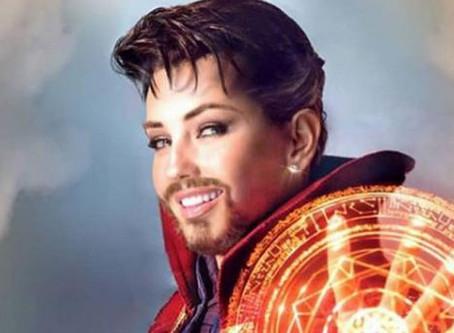 Thalía sorprendió a sus fans con un realista disfraz de Doctor Strange