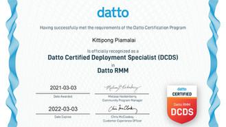 We Got Datto Certified Deployment Specialist (DCDS) In Datto RMM