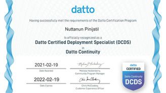 We Got Datto Certified Deployment Specialist (DCDS)
