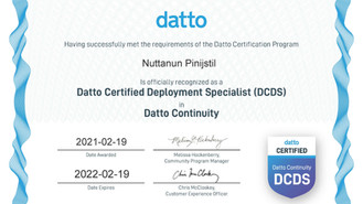 We Got Datto Certified Deployment Specialist (DCDS)