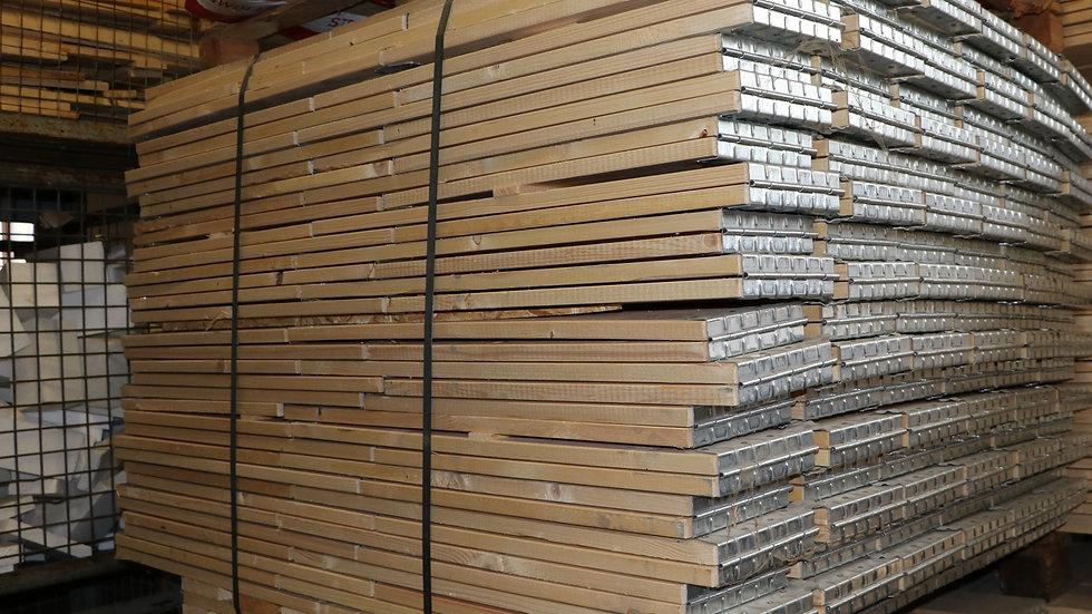 Aufsatzrahmen für Paletten. IPPC Standard, stapelbar und faltbar