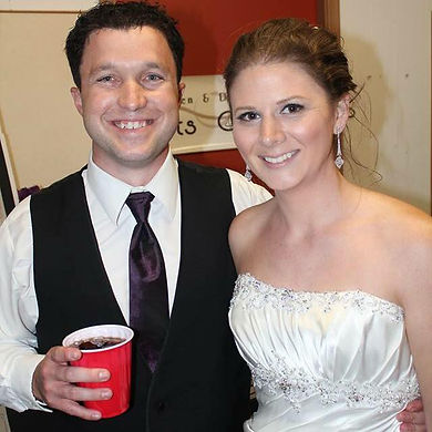 Joel and Audrey, groom, bride