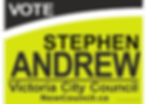 STEPHEN ANDREW color window sign Letter