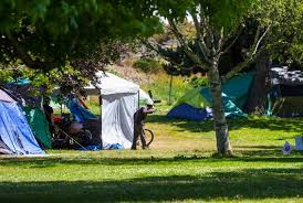 Camping in Beacon Hill Park