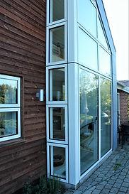 Detalje af udbygning af eksisterende hus - husarkitekten