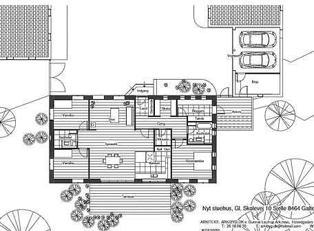 Plantegning - Ny bolig af husarkitekten