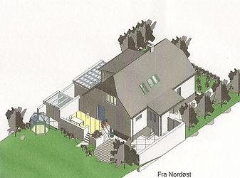 3D illustration i Revit af husarkitekten