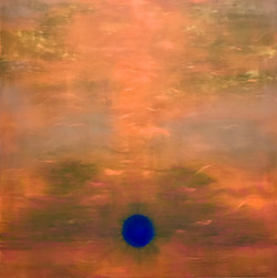 THE BLUE SUN 100x100 cm oil on linen