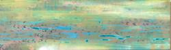 WATERSTORY 2 100x30 cm acrylic on linen -2021