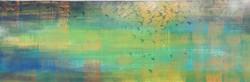 WATERSTORY 1 100x30 cm acrylic on linen -2021