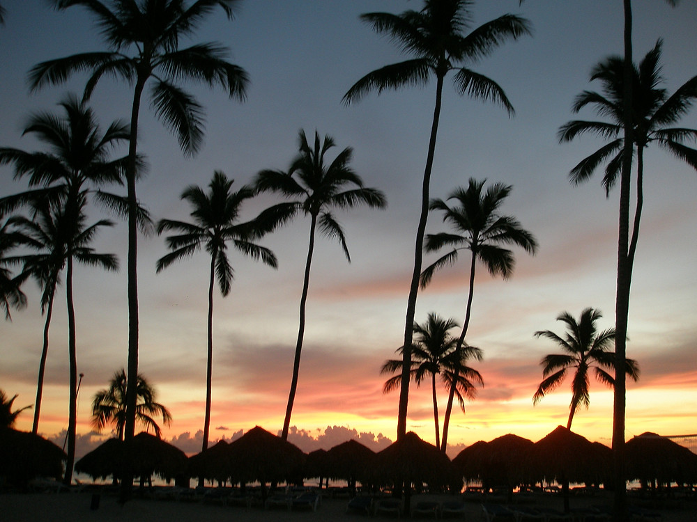 Sunset in the Dominican Republic