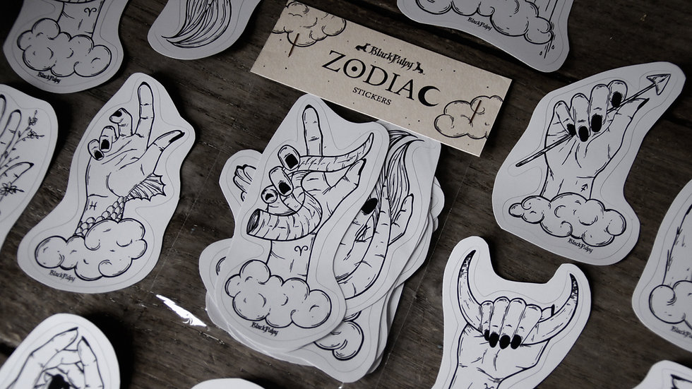 Pack 12 Stickers Zodiac