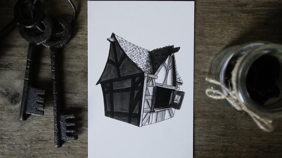 Carte Maison à Colombages