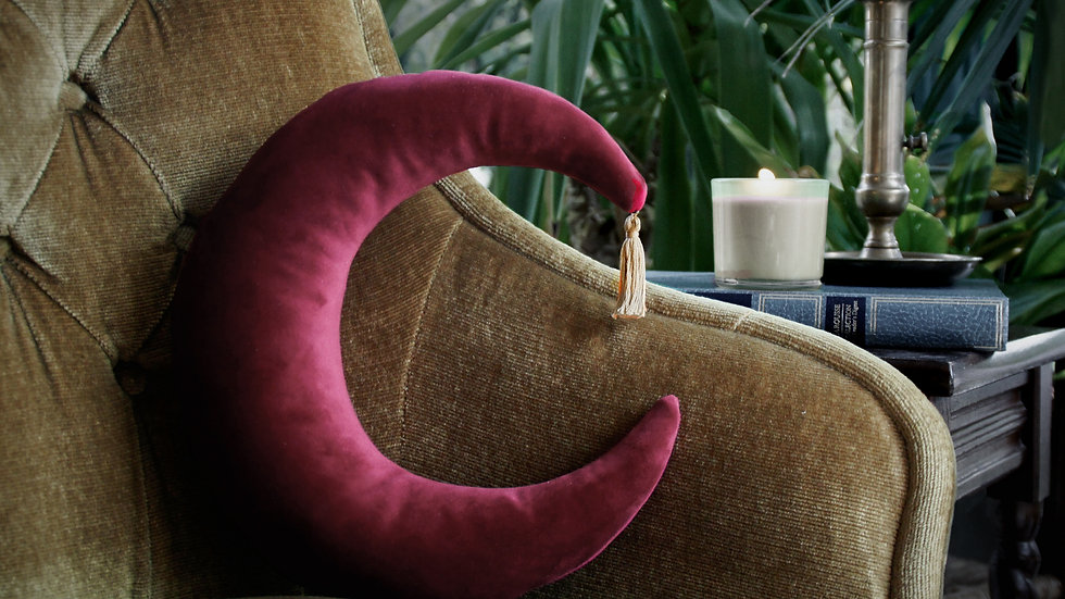 Coussin Lune Rouge