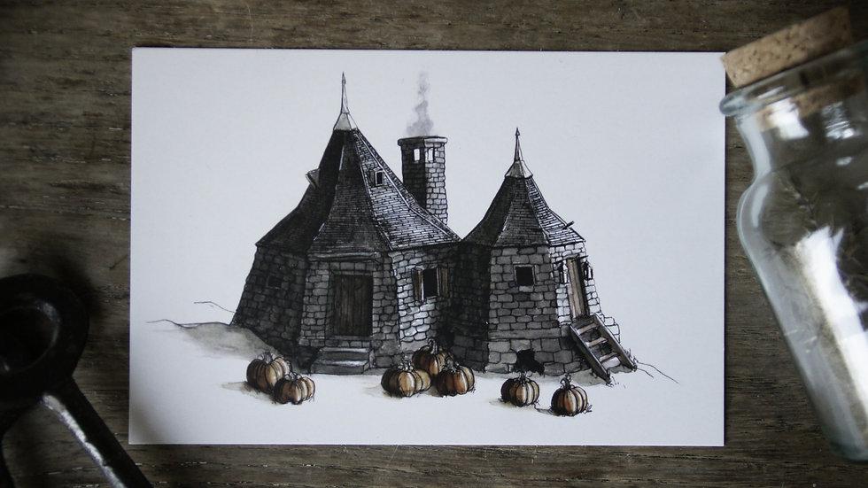 Carte Maison d'Hagrid