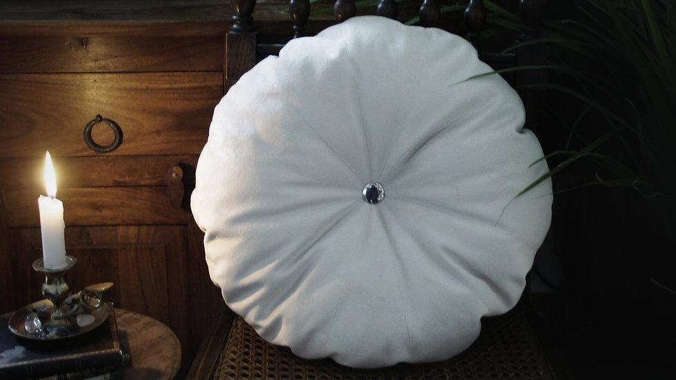 Coussin Citrouille Blanc