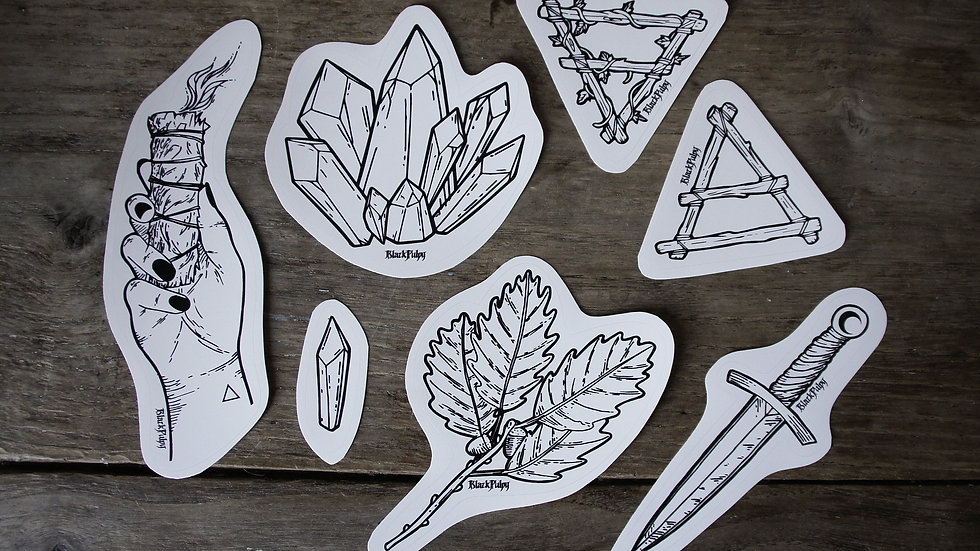 Pack 7 stickers Nature