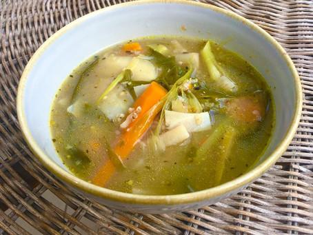 Hirse-Wurzelgemüse-Suppe... als Frühstück oder ganztags