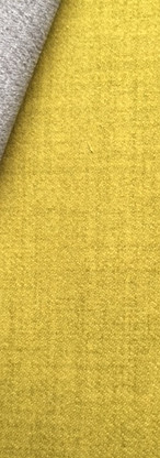 Traditional Genuine Soft Plain Thick Highland Wool Upholstery Fabric Lime Green