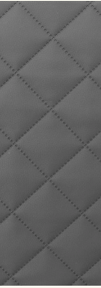 Quilted Faux Leather Fabric - Single Diamond Medium - Grey