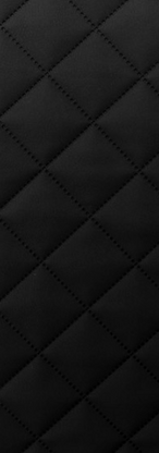 Quilted Faux Leather Fabric - Single Diamond Medium - Black