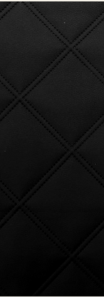 Quilted Faux Leather Fabric - Double Stitch Diamond Large - Black